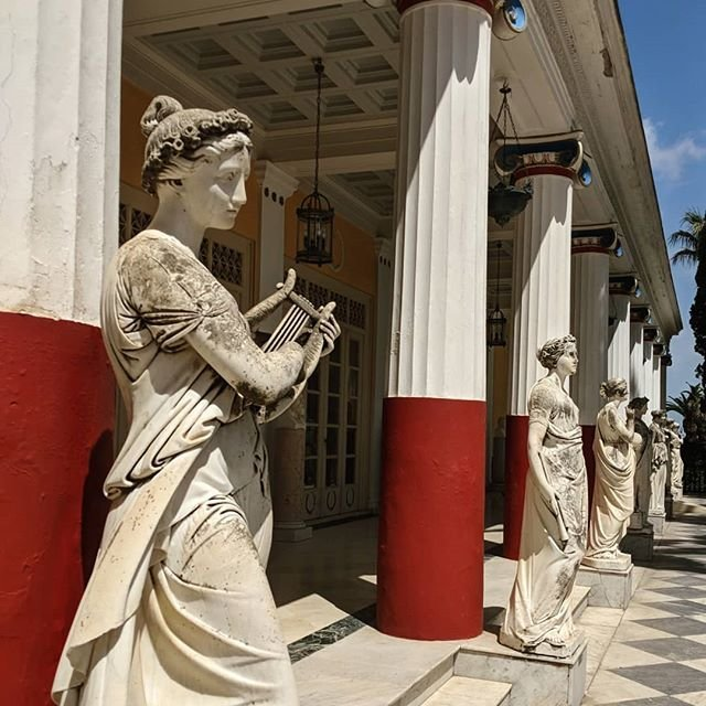 Second stop today was at the Achilleion Palace. Built by Sisi the Empress of Austria. 👑 . . . #achilleionpalace #corfu #greece #greekislands #princesscruises #comebacknew #crownprincess #vacation #travel #travelgram #travelpics #wanderlust #instatravel #lovetotravel #doyoutravel #passportready #instapassport #postcardsfromtheworld #traveldeeper #traveltheworld #travelphoto #mytravelgram #aroundtheworld #thinklesstravelmore #globetrotter #teampixel