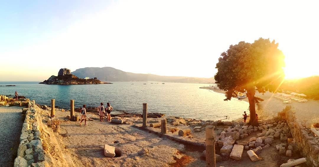Agios Stefanos 🇬🇷🌅 #agiosstefanos #agiosstefanosbeach #kos #greece #beach #island #church #greekchurch #sea #sunset #love #summer2019