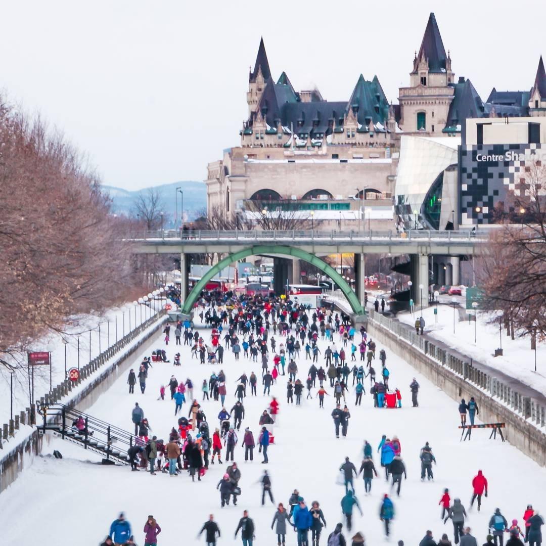 rideau canal skateway in Ottawa Ontario Canada