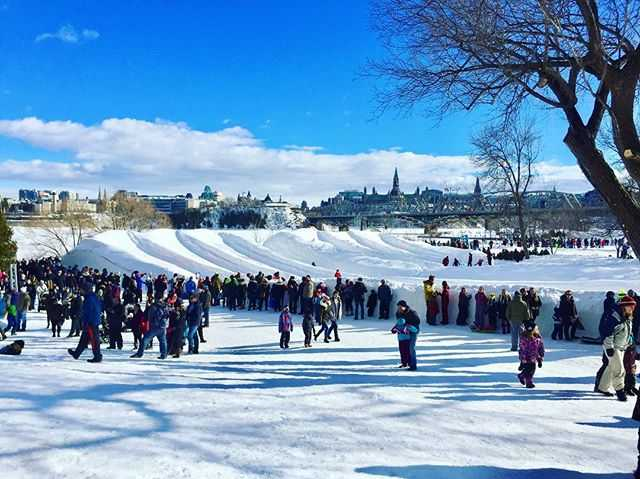 Yesterday, Winterlude - Snowflake Kingdom.. Fun day.. Sunday.. See you again next year! Can you see Parliament? #myottawa