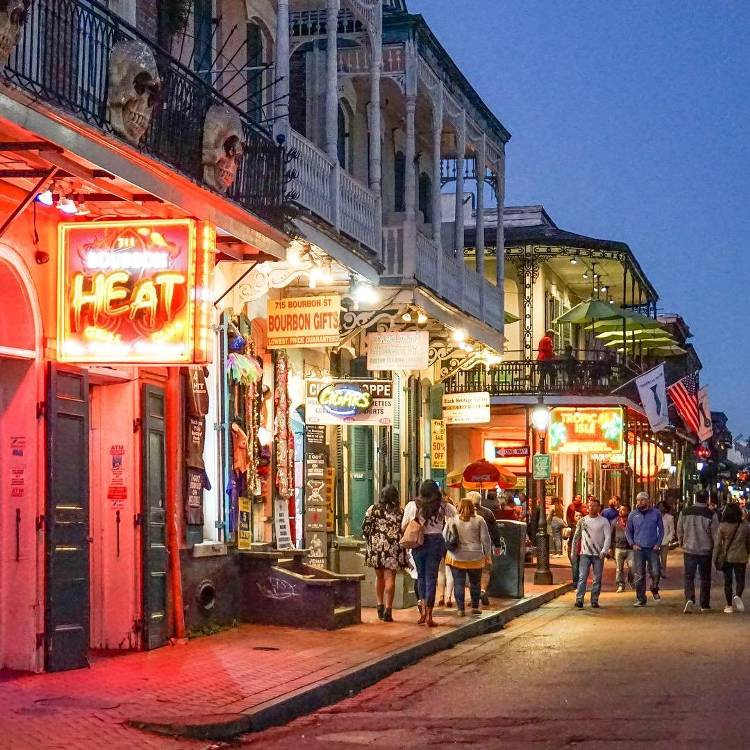 Bourbon Street New Orleans Streets To Visit