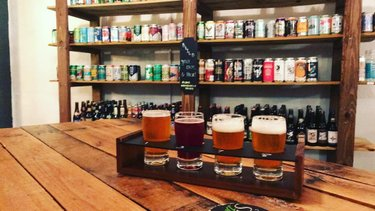 Delicious brews at Sixtel Bottle & Growler House. 🍻  sixtelbgh  #sixtelbgh #enterprisealabama #sweethomealabama #flightofbeer #craftbeer