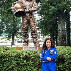 Today we made history with the first #AllWomanSpaceWalk and it take me back to the time we got to spend at spacecampusa in visithuntsvilleal  _ Science and Technology is so important for kids especially girls. reesealvarado won't ever forget her time spent at space camp and today proves that anything is possible. One day it just might be HER in space 💫