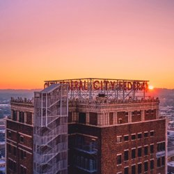 Photo by thisisalabama, caption reads: Beautiful Birmingham 🧡🧡 Thanks, dyoungblood71, for sharing this stunning view of the historic City Federal Building! // #thisisalabama