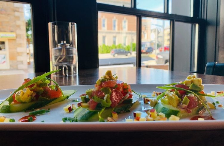 Stop in tonight and try our Tuna Tartare Special With Avocado, Scallion, and Kimchi vinaigrette on Cucumber. 😋