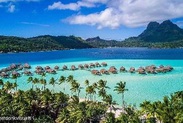 The Island of Bora Bora  Vacations Hotels Resorts  Maps