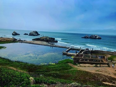 Overlooking the Sutro Baths in Land's End. Also spotted a cutie pie digging her home along the trail path 💪🏻🌥🌊 . . . . #nature #sanfrancisco #outdoors #ocean #wildlife #marinefog #hiking #naturephotography #explore #travelphotography #vegan #eatplants #vegansofinstagram #veganfoodlovers #veganism #crueltyfree #veganaf #vegansofig #sfvegans #bayarea #vegansf #vegancommunity #veganfamily #plantbasedlife #bayareavegans #plantbased #veganlife #veganforlife #veganlifestyle