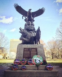 Remembrance Day 2018 in Canada's capital - Ottawa. LEST WE FORGET 🇨🇦 Aboriginal War Memorial on Elgin Street, Ottawa, ON @jordandegooyer #canada #canadian #remember #remembranceday #remembrance #thankyou #lestweforget #military #militaryfamily #wwi #worldwar #firstworldwar #cemetary #poppy #flandersfields #appreciation #battle #battlefield #veteran #veterans #unknownsoldier #tomboftheunknownsoldier #cf18 #cf18hornet #soldier #soldiers #ottawa #warmemorial #AboriginalWarMemorial #aboriginal