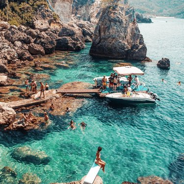 Those infectious vibes on lovely little Corfu. One of the many reasons I fell in love with Greece over the summer. ✌?