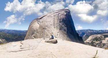 A great perspective of the cables on the famous Half Dome hike captured by srgio.brnl  Rising nearly 4,800 ft above Yosemite Valley the 16.5 mile round trip up & back to the Half Dome cable route is the Ultimate Yosemite day hike.  Have you hiked Half Dome? We'd love to hear your story. Share in the comments below.  #YosemiteNation . . . . . #YosemiteValley #whyihikeyosemite #visitCalifornia #visitgoldcountry #visittheusa #outdoorsusa #halfdome #calove
