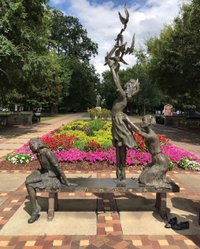 """I have a dream that my four little children will one day live in a nation where they will not be judged by the color of their skin but by the content of their character"" Martin Luther King 1963⁠ 🇺🇸⁠ This beautiful memorial in Kelly Ingram Park commemorates the four young girls who were killed by a bomb planted in Sept 1963 (not long after that speech) by the Ku Klux Klan at the 16th St Baptist Church in Birmingham #Alabama. There are many more moving sculptures in the park that bring to life the Civil Rights movement in Birmingham. Be sure to take a tour of the 16th St Baptist church opposite the park to hear the stories from those events and visit the bhamcivilrights institute nearby inbirmingham⁠ 🇺🇸⁠ If you'd like to organise a similar road trip to the one I made through Alabama check out travelasulikeit & alabamatravel for more ideas (AD)⁠ https://www.americaasyoulikeit.com/alabama⁠ 🇺🇸⁠ #Alabama #USA #SweethomeAlabama #Alabamatravel #alabamathebeautiful #explorealabama #explorethesouth #igalabama #visitusa #usatrip #usaroadtrip #travelusa #visittheusa #RoadTripUSA #Birminghamal #BirminghamAlabama #InBirmingham #bham #bhamal #bhamnow #civilrights #civilrightsmuseum"