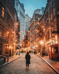 Uma das ruas mais festivas em Lower Manhattan. ✨
