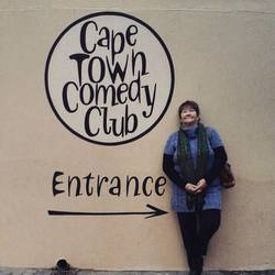 My mumzy excited to check out the Cape Town Comedy Club yesterday - having fun showing the parentals around ?? #PEinthehood #LoveCapeTown  #ActingLikeTourists
