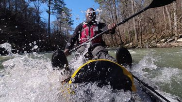 """More from the """"Perfect day on the river."""" Flat water, white water perfect weather and a good buddy. Met some good folks that saved us from ourselves...More now on youtube! . . . #blackwatercreek #jasper #walkercounty #suplife #isup #suplove #optoutside #kayaking #paddlealabama  #standuppaddle #standuppaddling #stand_up_paddle #standuppaddleboard  #paddleboarding  #alabamarivers  #alabama  #riverpaddle  #pelicancooler  #whitewater #blackfinsup #explorealabama  #alabamaoutdoors  #thisisalabama"""