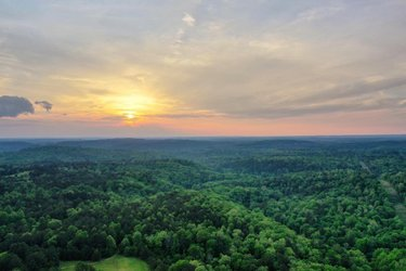 Beauty of sunset 🌅 #alabama #drone #aerial #sunset