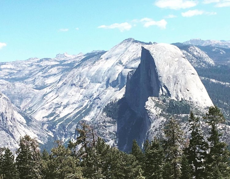 Photo by mikey_clarke, caption reads: When you climb Half Dome you miss the view of her good side #Yosemite #halfdome #sentineldome #hikemore #california #getoutside #mountains #nps