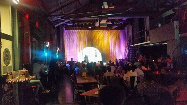 Monday night things: rocking a @capetowncomedy #tweetseats event with the gorgeous @letishia_queenbeemktg and @fuadpeters ????