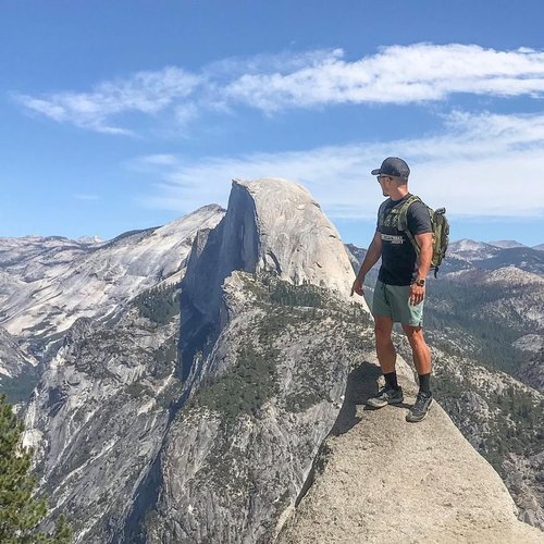 """Photo by jimtng, caption reads: Glacier Point with a magical view of """"Half Dome"""" 🏞😍🙏🏼 #Yosemite"""