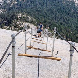 The final stretch up Half Dome. Photo by ronintees! August 27, 2019. . . . . #halfdome #halfdomecables #halfdomehike #yosemite #yosemitenationalpark #hiking #girlswhohike #outdoors #outdoorslife #nature #getoutside