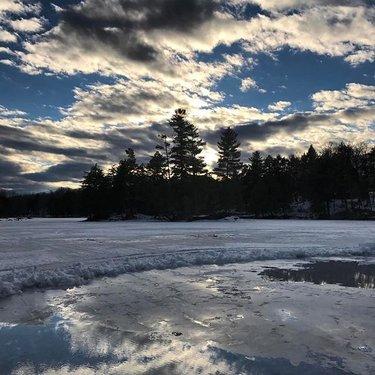 #bigriddau #landscape #melting #frozenlake