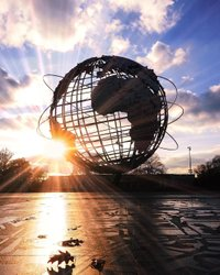Unisphere at sunset yesterday🍂 . Corona Park, Queens . Hello! In the next few days I plan to re-post my feed. Posting original un-framed photos. . (May replace all bordered photos) . 🎈Visit my feed? :) . #nyloveyou #topnewyorkphoto #newyorkcity #nyc #ig_nycity #ilove_newyo #SeeYourCity #instagood #finditliveit #nycityworld #nycprimeshot #nycdotgram #moodygrams #loves_nyc #travelnyc #icapture_nyc #what_i_saw_in_nyc #nycgo #nyclive #nycprime_ladies #newyorkarea #newyorkloversnyl #igs_nyc #nyclife #fall #newyork_instagram #newyork #streets #sunset #nature