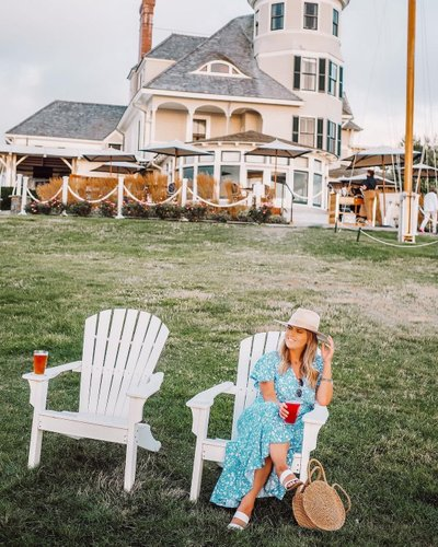 Last nights lawn drinks at @castlehillinn while the sun set 💛 ya'll, I'm absolutely in love with Rhode Island!   Shop this outfit: http://liketk.it/2U74R  #newportri #newportrhodeisland #discovernewport #weekendgetaway #weekendvacation #newengland_igers #rhodeisland_igers #castlehillinn #amazonfinds #amazonprime #amazonstyle #ltkunder50 #travelblogger #travelgram #styleinspo #styleblogger #ootdshare #diftt🥂 #tvo🥂 #instadaily #cutedresses #summerstyle #vacationstyle #liketoknowitstyle #rewardstyleblogger #rhodeislandsummer #travelmore #exploremore