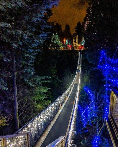 Vancouver Christmas Lights.Canyon Lights Christmas Events North Vancouver