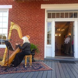 What a perfectly lovely evening to kick off the annual Camden historic house tours. Thanks for having me wilcoxhistoricalsociety! #sweethomealabama #harpist #antiqueslecture #blackbeltalabama #wilcoxcounty #historichousetour
