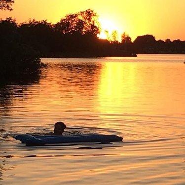 Beautiful Life 🌅 #sunsaysgoodbye #sundowner #colors #swimming #sneek #travel #niederlande #yellow #sunset #picofthenight #loveyourlife #natur #sneekermeer