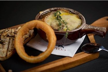 Pure perfection. Our Five Onion Gratin with caramelized onions, sourdough and Gruyere cheese ?: @412matt