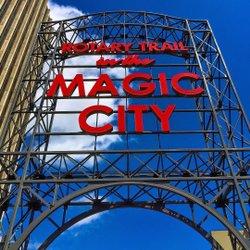 #magiccity #sweethomealabama #shotoniphone #bluesky #clouds #thisisalabama #rotarypark #instagrambham #downtown